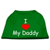 Mirage Pet Products I Love My Daddy Screen Print Shirts Emerald Green XS (8)