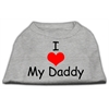 Mirage Pet Products I Love My Daddy Screen Print Shirts Grey XS (8)