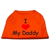 Mirage Pet Products I Love My Daddy Screen Print Shirts Orange XS (8)