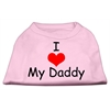 Mirage Pet Products I Love My Daddy Screen Print Shirts Pink Sm (10)
