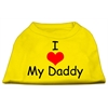 Mirage Pet Products I Love My Daddy Screen Print Shirts Yellow XS (8)
