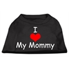 Mirage Pet Products I Love My Mommy Screen Print Shirts Black  XXXL (20)