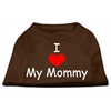 Mirage Pet Products I Love My Mommy Screen Print Shirts Brown Sm (10)