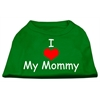 Mirage Pet Products I Love My Mommy Screen Print Shirts Emerald Green XS (8)