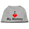 Mirage Pet Products I Love My Mommy Screen Print Shirts Grey XS (8)