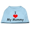 Mirage Pet Products I Love My Mommy Screen Print Shirts Baby Blue XS (8)