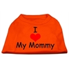 Mirage Pet Products I Love My Mommy Screen Print Shirts Orange XS (8)