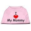 Mirage Pet Products I Love My Mommy Screen Print Shirts Pink XXL (18)
