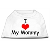 Mirage Pet Products I Love My Mommy Screen Print Shirts White XXL (18)