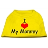 Mirage Pet Products I Love My Mommy Screen Print Shirts Yellow XS (8)