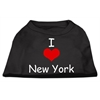 Mirage Pet Products I Love New York Screen Print Shirts Black  XXL (18)