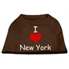 Mirage Pet Products I Love New York Screen Print Shirts Brown XS (8)