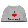 Mirage Pet Products I Love New York Screen Print Shirts Grey XS (8)