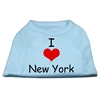 Mirage Pet Products I Love New York Screen Print Shirts Baby Blue Med (12)