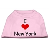 Mirage Pet Products I Love New York Screen Print Shirts Pink XXL (18)