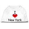 Mirage Pet Products I Love New York Screen Print Shirts White Sm (10)