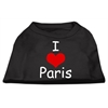 Mirage Pet Products I Love Paris Screen Print Shirts Black  XS (8)