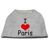 Mirage Pet Products I Love Paris Screen Print Shirts Grey XL (16)