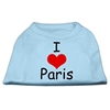 Mirage Pet Products I Love Paris Screen Print Shirts Baby Blue XL (16)
