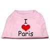 Mirage Pet Products I Love Paris Screen Print Shirts Pink XS (8)