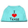 Mirage Pet Products I Love Texas Screen Print Shirts Aqua XXXL (20)