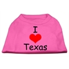 Mirage Pet Products I Love Texas Screen Print Shirts Bright Pink XXXL (20)