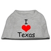 Mirage Pet Products I Love Texas Screen Print Shirts Grey XS (8)