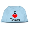 Mirage Pet Products I Love Texas Screen Print Shirts Baby Blue XS (8)