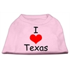 Mirage Pet Products I Love Texas Screen Print Shirts Light Pink XS (8)
