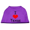 Mirage Pet Products I Love Texas Screen Print Shirts Purple XXL (18)