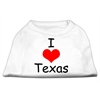 Mirage Pet Products I Love Texas Screen Print Shirts White Sm (10)