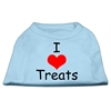 Mirage Pet Products I Love Treats Screen Print Shirts Baby Blue XS (8)