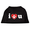 Mirage Pet Products I Love U Screen Print Shirt Black  XXXL (20)