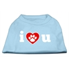 Mirage Pet Products I Love U Screen Print Shirt Baby Blue XS (8)