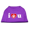 Mirage Pet Products I Love U Screen Print Shirt Purple XS (8)