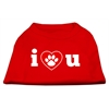 Mirage Pet Products I Love U Screen Print Shirt Red  XS (8)