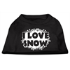 Mirage Pet Products I Love Snow Screenprint Shirts Black XXXL (20)