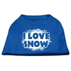 Mirage Pet Products I Love Snow Screenprint Shirts Blue Med (12)