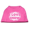 Mirage Pet Products I Love Snow Screenprint Shirts Bright Pink XXL (18)