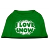Mirage Pet Products I Love Snow Screenprint Shirts Emerald Green Med (12)