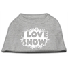 Mirage Pet Products I Love Snow Screenprint Shirts Grey XS (8)