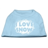 Mirage Pet Products I Love Snow Screenprint Shirts Baby Blue S (10)