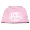 Mirage Pet Products I Love Snow Screenprint Shirts Light Pink XS (8)