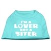 Mirage Pet Products I'm a Lover not a Biter Screen Printed Dog Shirt   Aqua Lg (14)