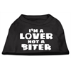 Mirage Pet Products I'm a Lover not a Biter Screen Printed Dog Shirt   Black  Sm (10)