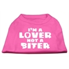 Mirage Pet Products I'm a Lover not a Biter Screen Printed Dog Shirt   Bright Pink XL (16)