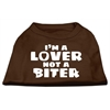 Mirage Pet Products I'm a Lover not a Biter Screen Printed Dog Shirt Brown XS (8)