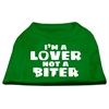 Mirage Pet Products I'm a Lover not a Biter Screen Printed Dog Shirt Emerald Green XXL (18)