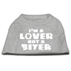 Mirage Pet Products I'm a Lover not a Biter Screen Printed Dog Shirt   Grey XS (8)