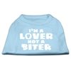 Mirage Pet Products I'm a Lover not a Biter Screen Printed Dog Shirt   Baby Blue XS (8)